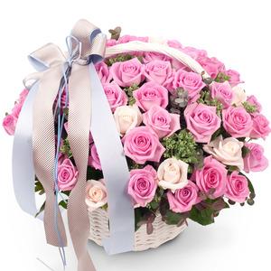 (30%할인) 핑크장미꽃바구니